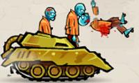 Танк «Ярость» против зомби в городе
